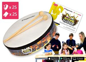 25-teilige Trommel-Kiste Rhythmic-Village 2