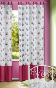 Vorhang Eulchen, rosa-magenta, 245x135, (1 Schal) Gr. 245 x 135