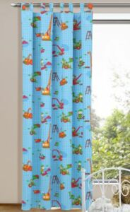 Vorhang Baustelle Bagger, 245 x 135 cm
