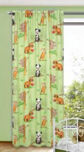 Vorhang Panda und Freunde, 245 x 135 cm