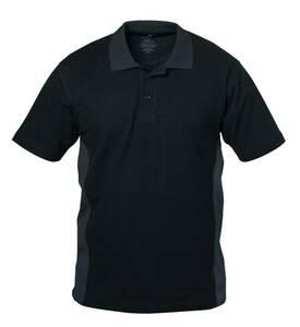 Poloshirt mit Knopfleiste, Farbe schwarz/grau