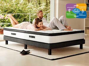 Hn8 Schlafsysteme 7-Zonen Kaltschaum-Matratze mit integriertem Gelschaumtopper