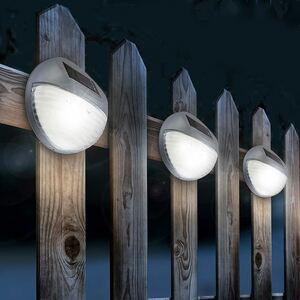 LED-Solar-Zaunlicht Kaltweiß