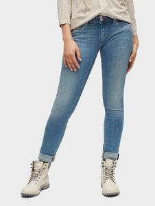 Tom Tailor Carrie Slim Jeans, light stone wash denim, 33/32