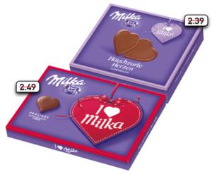 Milka Pralinés oder Hauchzarte Herzen
