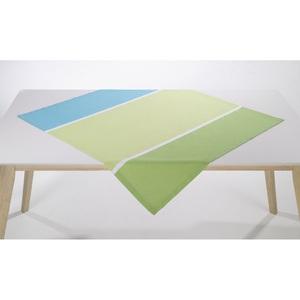 Tischdecke HALBPANAMA 100 x 100 cm in Grün/Blau/Weiß