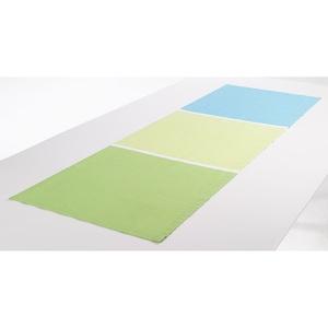 Tischläufer HALBPANAMA 45 x 150 cm in Grün/Blau/Weiß
