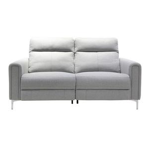 Sofa 2,5-Sitzer 103 x 198 x 98 cm Stoffbezug grau