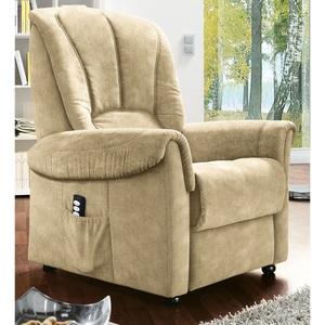 com4lux TV-Sessel mit Aufstehhilfe Stoffbezug beige