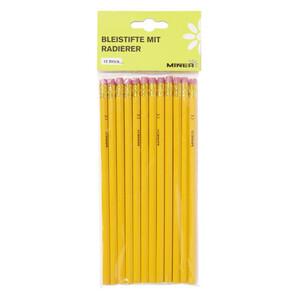 Minea Bleistifte mit Radierer 12 Stück