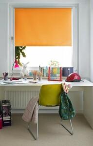 Gardinia EasyFix Thermo Rollo ,  orange, 120 x 150 cm