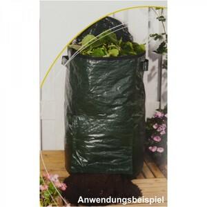 Kompostsack Garten Abfallsack 47x80cm 130L grün Gartensack Laubsack Rasensack