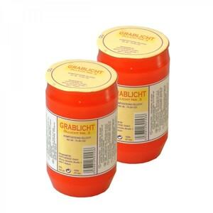 Grablicht 9,5cm 2x150g Kunststoff rot Öllicht Nr.3 Grableuchte Kerze Grabkerze
