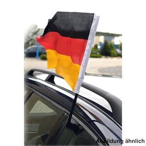 Autofahne Deutschland Flagge 45 x 30 cm stabiler Stab