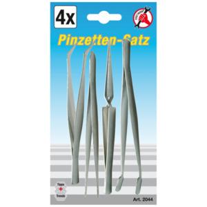 Pinzettensatz 4 teilig 105-120 mm lang