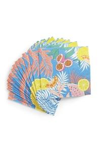Servietten mit tropischem Muster