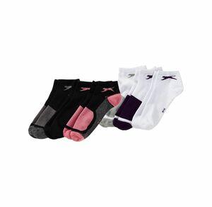 Slazenger Damen-Sneaker-Socken mit Kontrast-Design, 3er Pack
