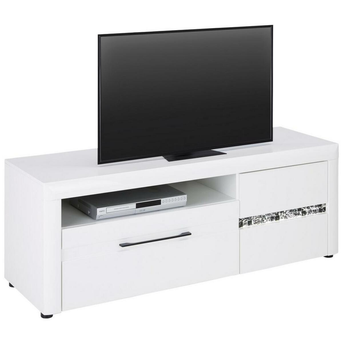Bild 2 von TV-Element in Weiß Hochglanz
