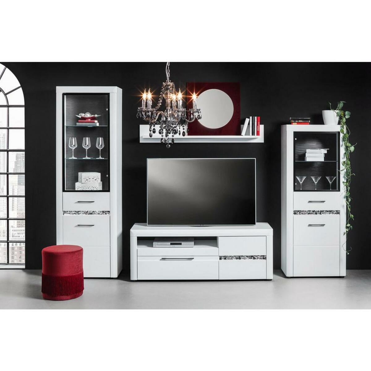 Bild 3 von TV-Element in Weiß Hochglanz