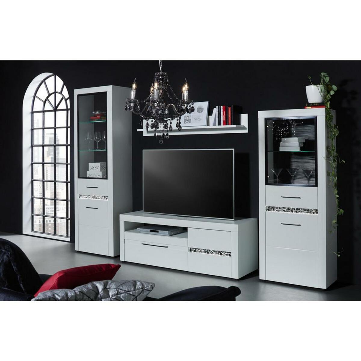 Bild 4 von TV-Element in Weiß Hochglanz