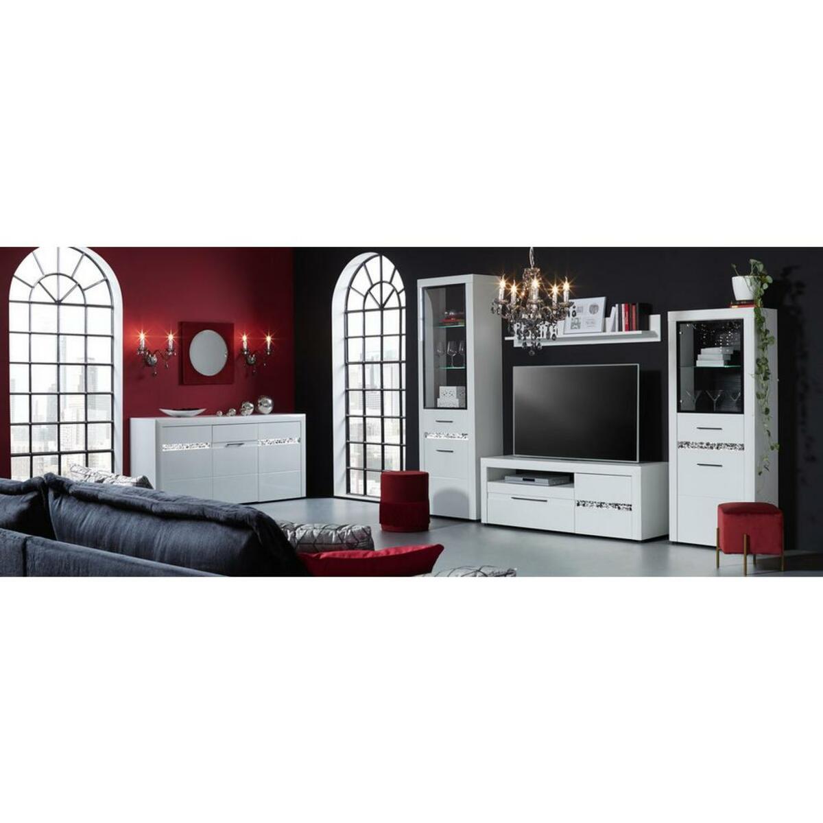 Bild 5 von TV-Element in Weiß Hochglanz