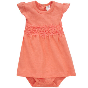 Baby Bodykleid mit Blumen-Applikationen