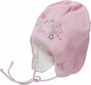 Erstlingsmütze zum Binden, Sterne Gr. 34-36 Jungen Baby