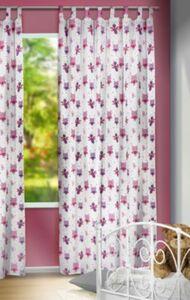 Vorhang Eulchen, rosa, 245 x 135 cm