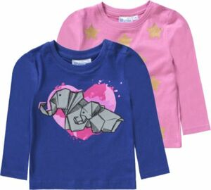 Baby Doppelpack Langarmshirts von TVMANIA Gr. 92 Mädchen Kleinkinder