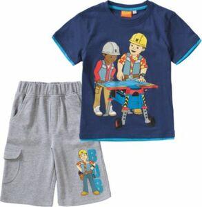 Bob der Baumeister Set T-Shirt + Sweatshorts Gr. 116/122 Jungen Kinder