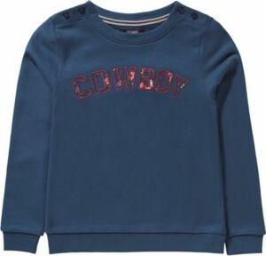Sweatshirt ANGELIQUE mit Pailletten , Organic Cotton Gr. 146/152 Mädchen Kinder