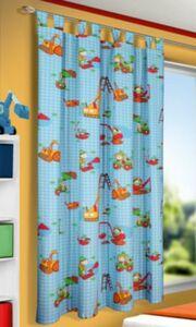 Vorhang Baustelle Bagger, 175 x 135 cm