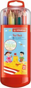 STABILO 15er-Pack Dicke Buntstifte Trio thick