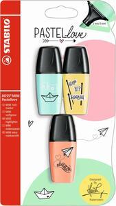 STABILO 3er-Pack Textmarker BOSS MINI Pastellove