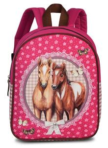 Fabrizio Kindergartenrucksack Pferde pink