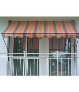 Angerer Klemmmarkise orange-braun, unterschiedliche Breiten