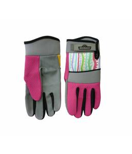 Dehner Gartenhandschuh mit Streifen, pink