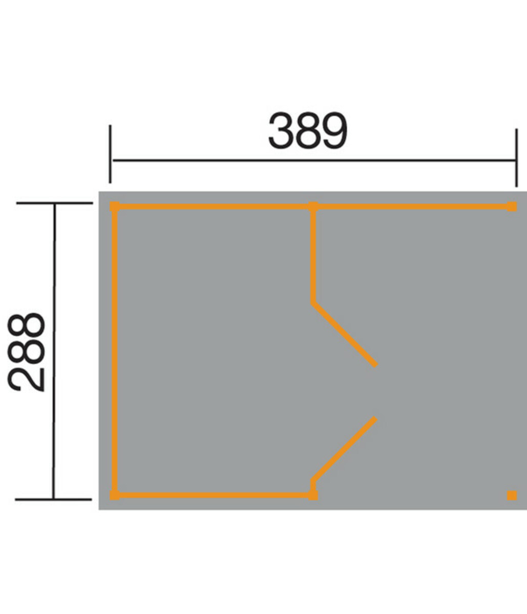Bild 2 von Weka Lagerhaus 607 Variante 1, 389 x 288 cm