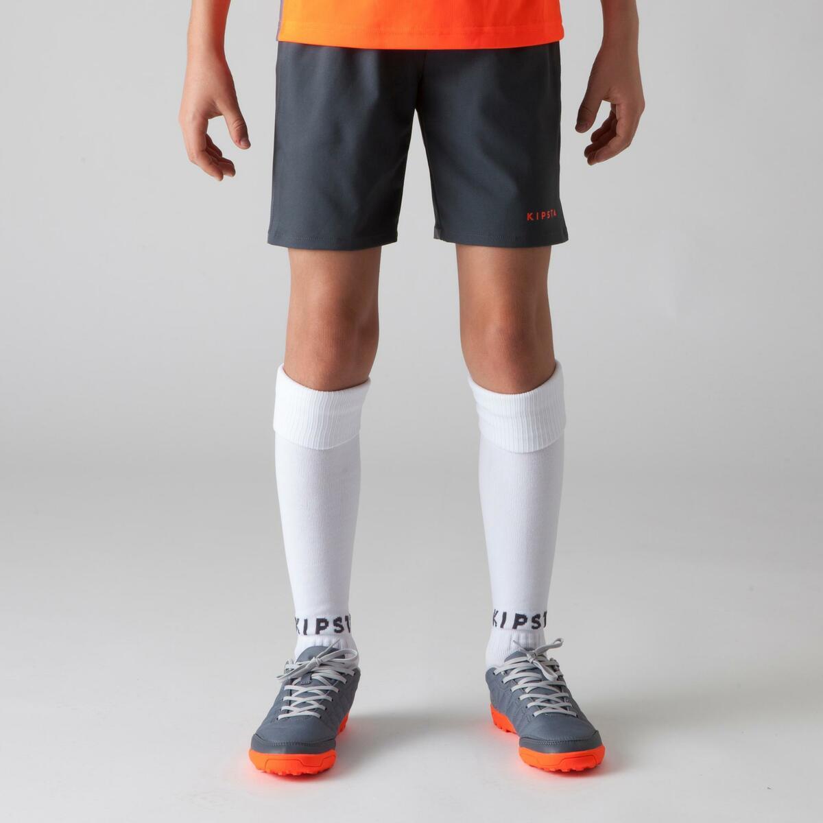 Bild 2 von Fußballshorts F500 Kinder grau/orange