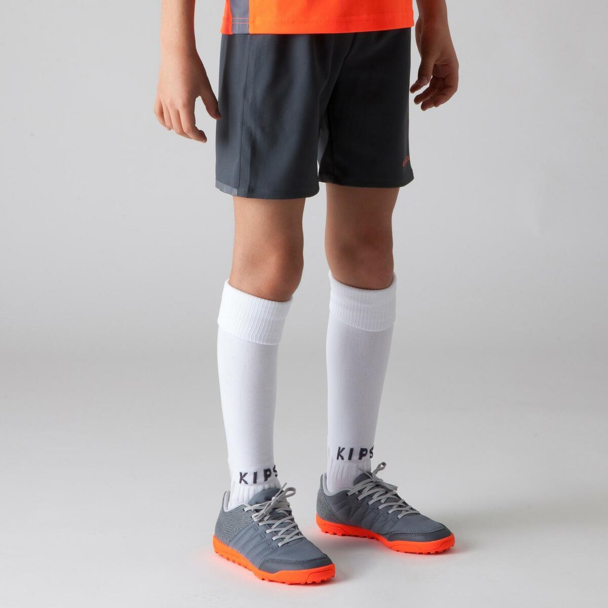 Bild 3 von Fußballshorts F500 Kinder grau/orange