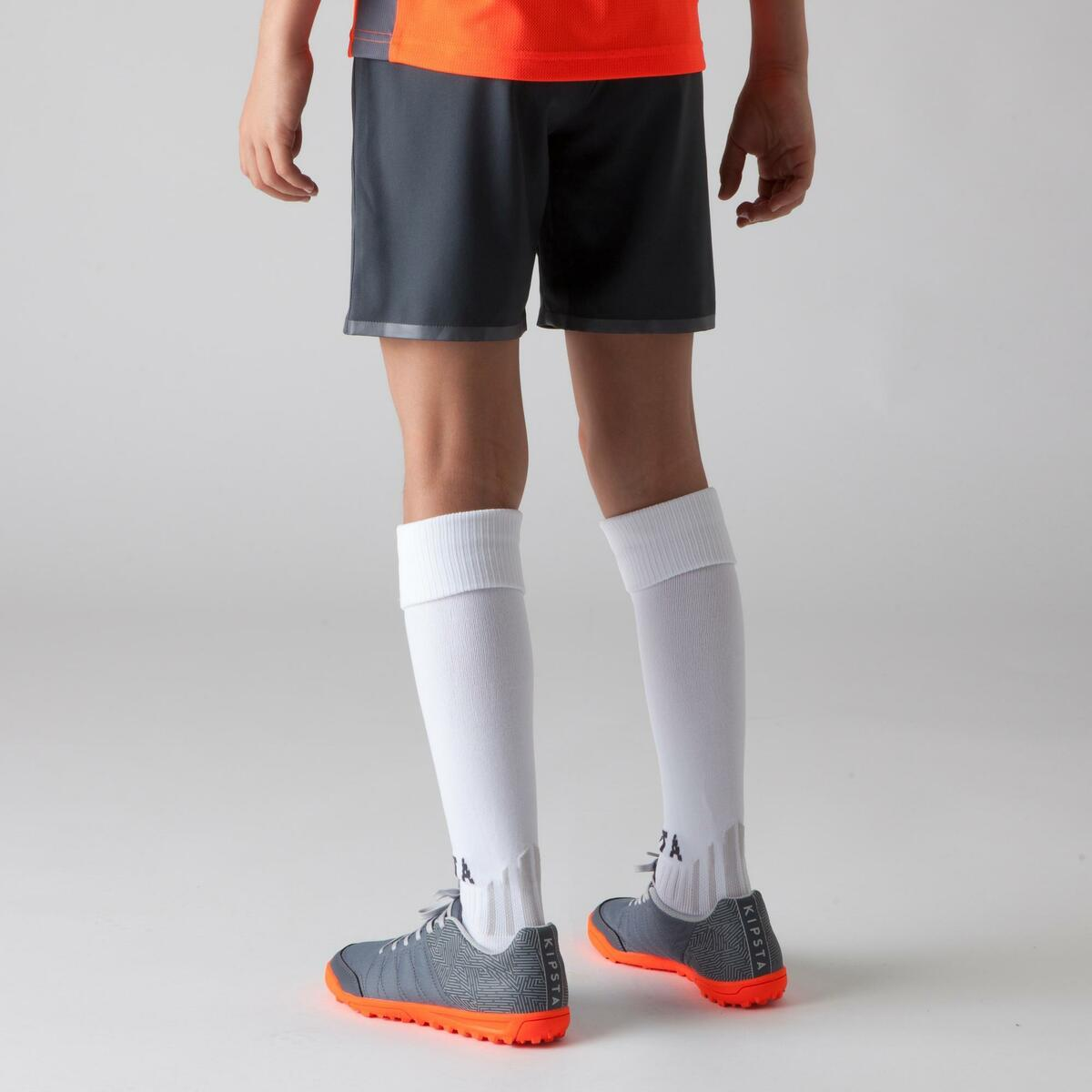 Bild 5 von Fußballshorts F500 Kinder grau/orange