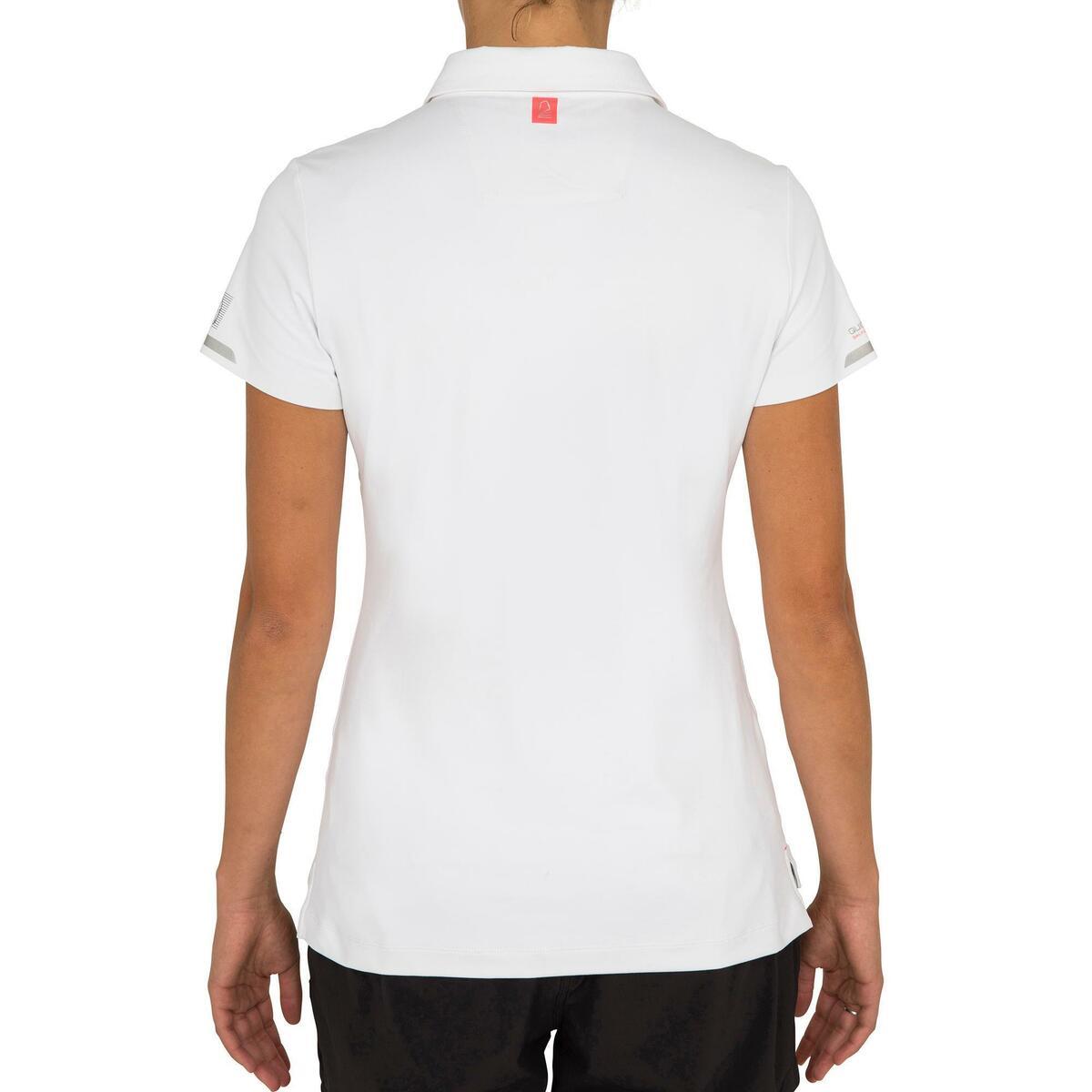 Bild 4 von Poloshirt kurzarm Segeln Race Damen weiß