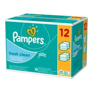 Pampers - Fresh Clean Feuchttücher Gigapack, 12x64 Stück
