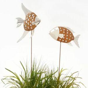 Gartenstecker-Set, 2-tlg. Fische Tobago & Trinidad Rost