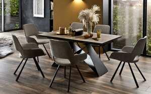 MCA furniture - Stuhlgruppe Parana/Kobe in Holz-Optik/melange