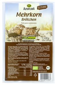 Alnatura Bio Mehrkorn Aufback-Brötchen 2x 120 g