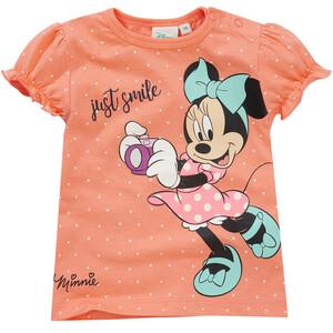 Minnie Maus T-Shirt mit Schulterknöpfung