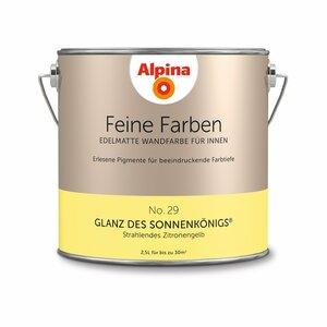 Alpina -             Alpina Alpina Wandfarbe 'Feine Farben' No. 29 'Glanz des Sonnenkönigs', zitronengelb, 2,5 l