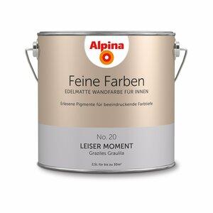 Alpina -              Alpina Wandfarbe 'Feine Farben' No. 20 'Leiser Moment', graulila, 2,5 l
