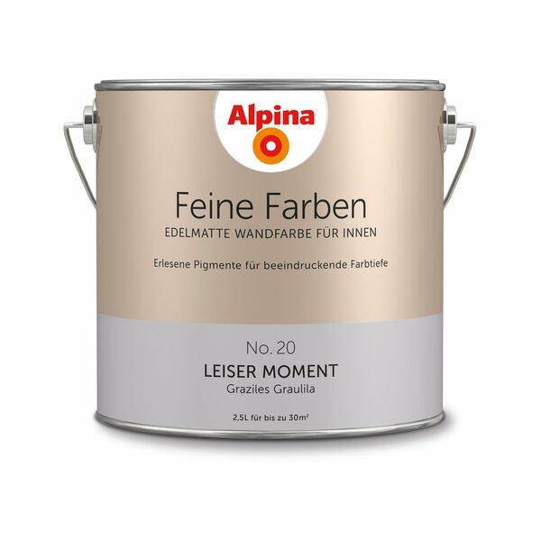 Alpina Alpina Wandfarbe Feine Farben No 20 Leiser Moment Graulila 2 5 L Von Toom Ansehen